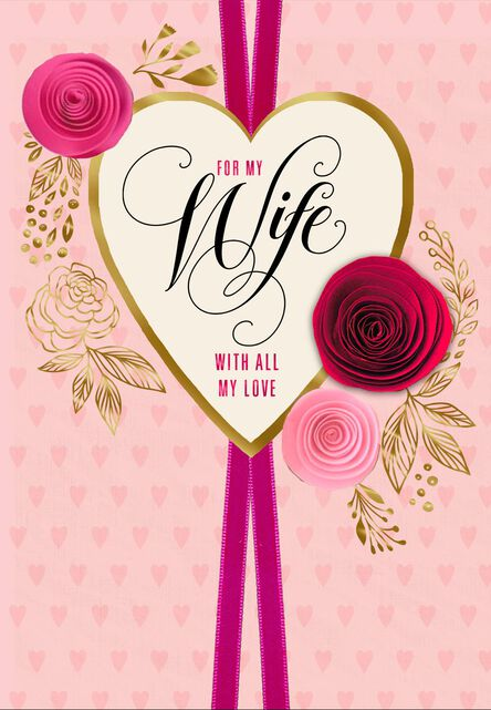 paper flowers for wife romantic valentine s day card greeting