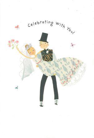On the Threshold Wedding Card