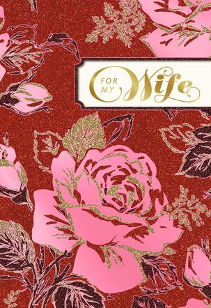 Pink Roses Valentine's Day Card for Wife