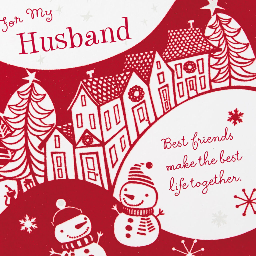 Best Christmas Cards.Best Friends Best Life Christmas Card For Husband