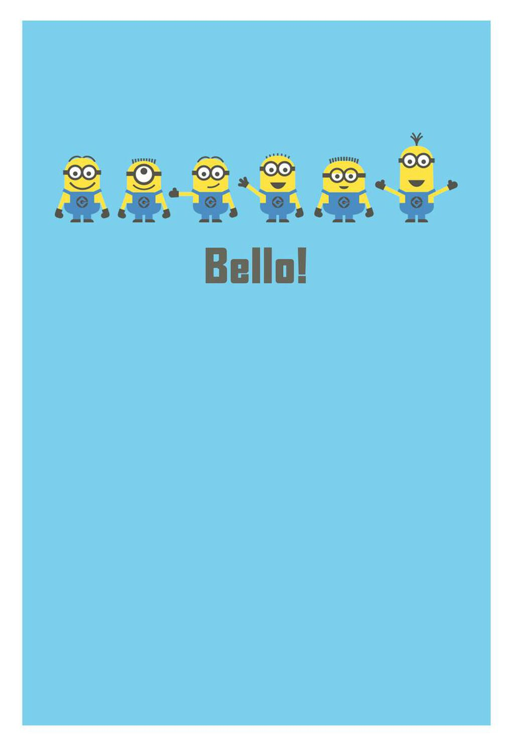 Despicable Me Minions Silly Birthday Card