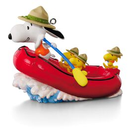 The PEANUTS® Gang Snoopy's White Water Adventure Rafting Ornament, , large