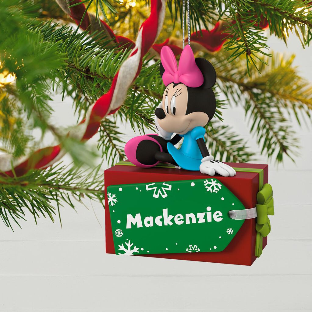 disney minnie mouse christmas present personalized ornament disney minnie mouse christmas present personalized ornament