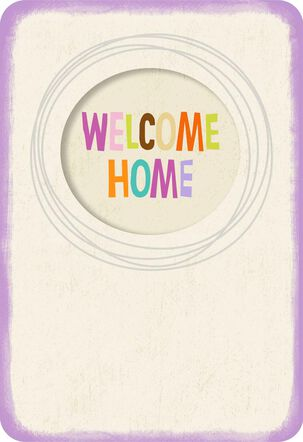 Welcome Mat New Home Card