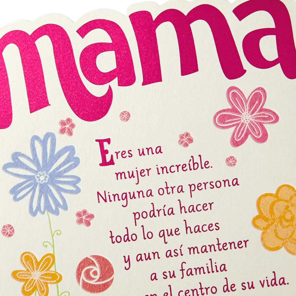 Love You More Than Words Can Say Spanish-Language Mother's Day Card