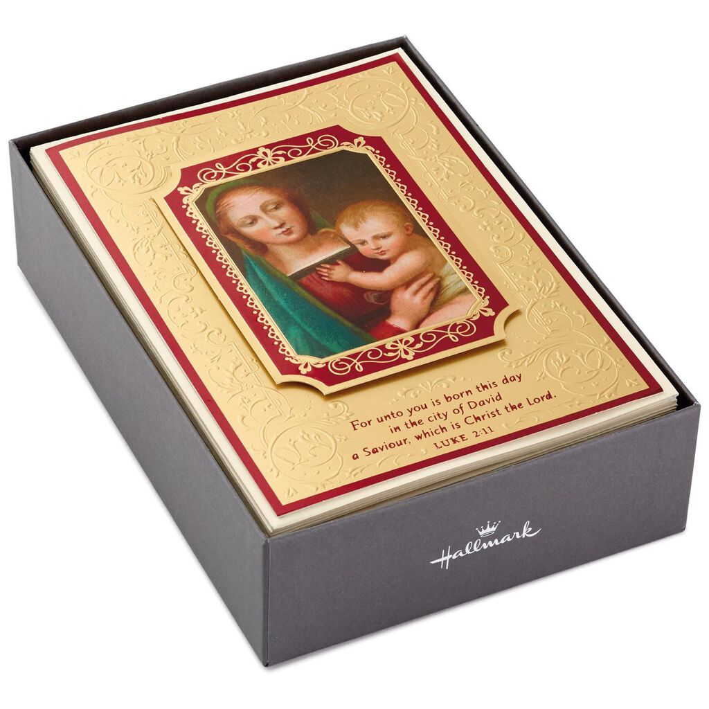 Madonna and Child Religious Christmas Cards, Box of 12 - Boxed Cards ...