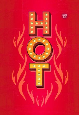 Flaming Hot Disco Inferno Musical Valentine's Day Card