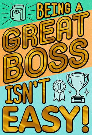 You Make It Look Easy Boss's Day Card