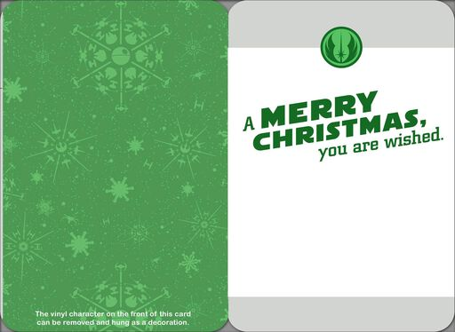 Yoda™ Nice List Christmas Card With Ornament,