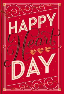 Happy Heart Day Valentine's Day Card,