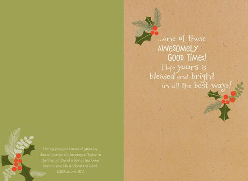 Grandson Religious Christmas Card,