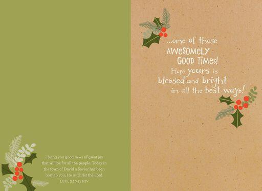 Grandson Religious Christmas Card,