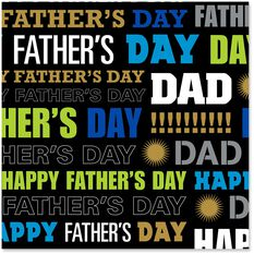 Happy Father S Day Wrapping Paper Roll 22 5 Sq Ft