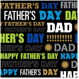 Happy Father's Day Wrapping Paper Roll, 22.5 sq. ft., , large