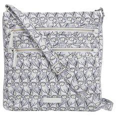 Vera Bradley Iconic Triple Zip Hipster Bag In Owls