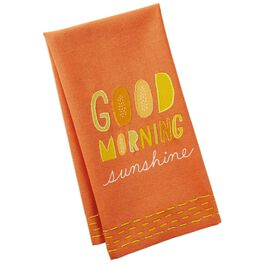 Good Morning Sunshine Breakfast Cotton Tea Towel, , large