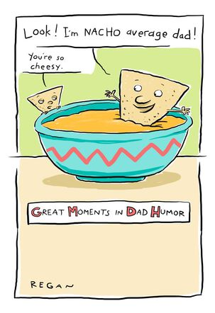 Cheesy Puns Funny Father's Day Card