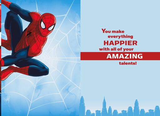 MARVEL'S Spider-Man Celebrating Your Talents Card With Backpack Clip,
