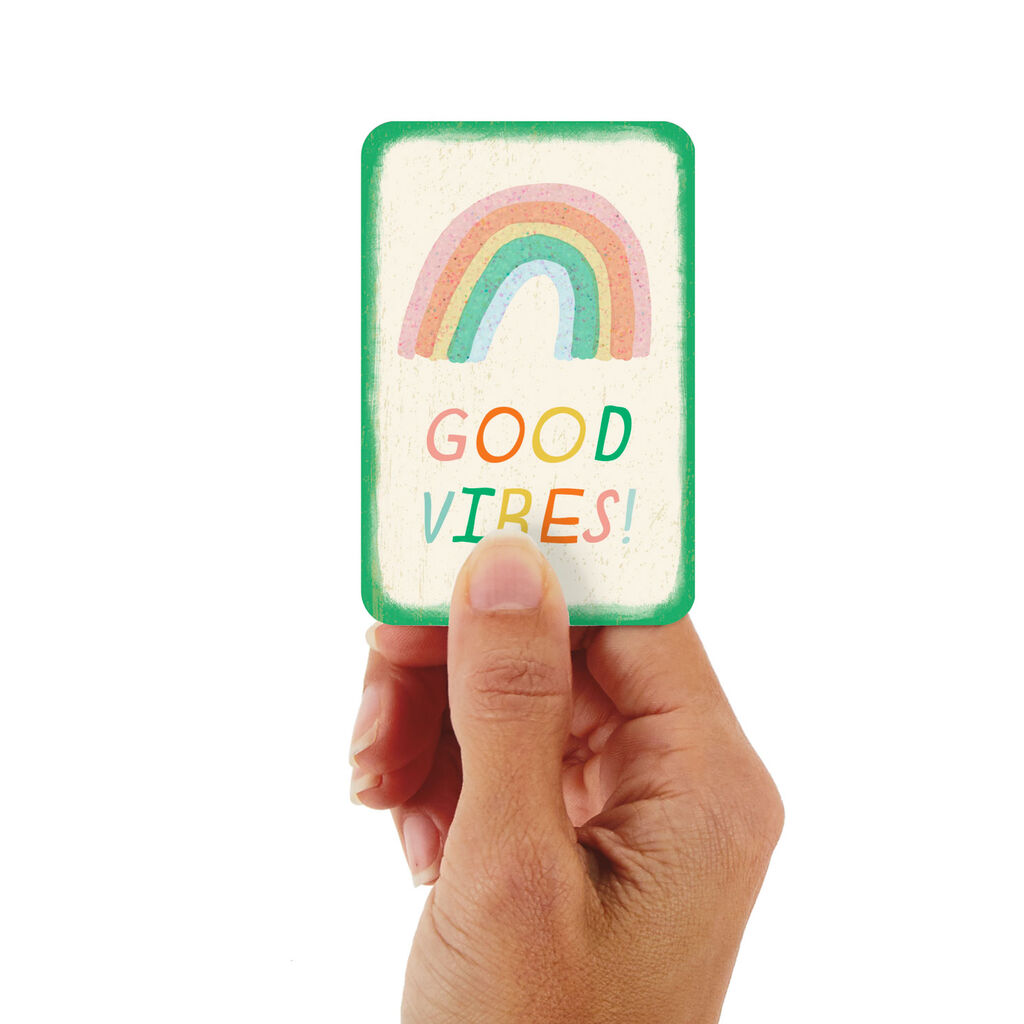 325 Mini Good Vibes Rainbow Encouragement Card Greeting Cards