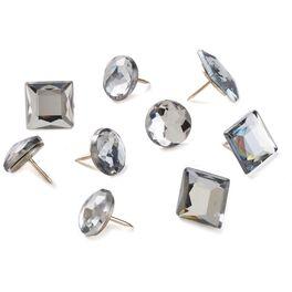 Gem Push Pins, Pack of 9, , large