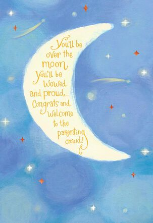 Over the Moon New Baby Card
