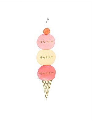 Happy Happy Ice Cream Birthday Card
