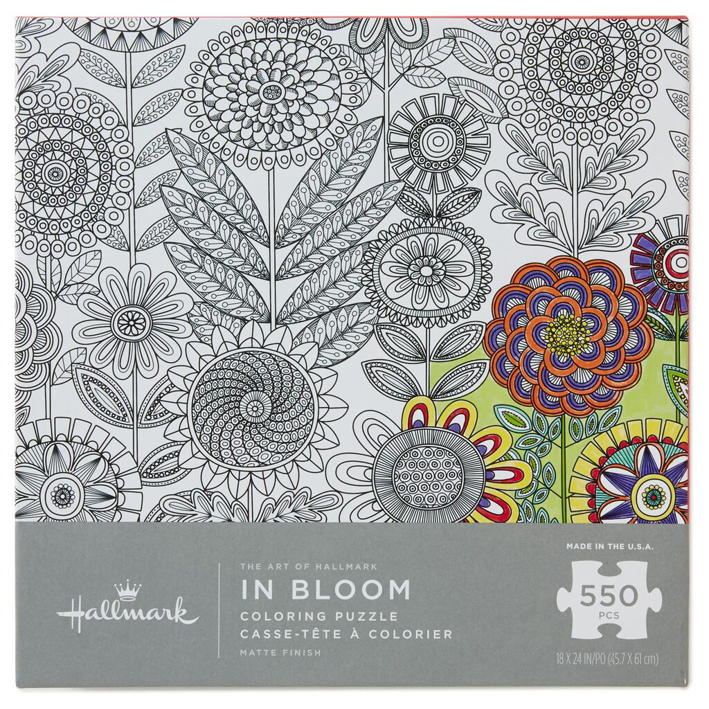 The Art of Hallmark—In Bloom 550-Piece Coloring Puzzle - Arts ...