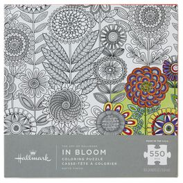 The Art of Hallmark—In Bloom 550-Piece Coloring Puzzle, , large