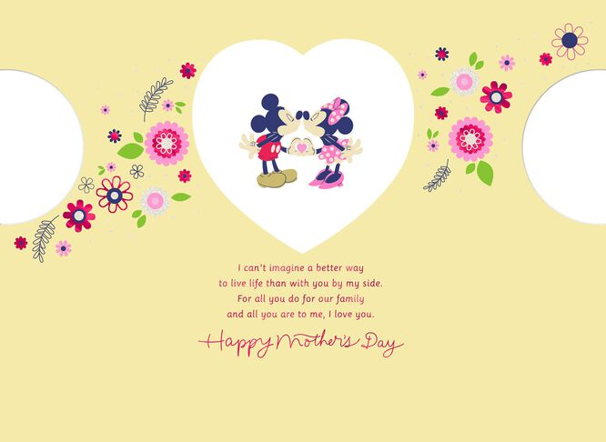 Mickey Mouse and Minnie Mouse Mother\'s Day Card - Greeting Cards ...