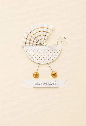Baby Carriage New Baby Card