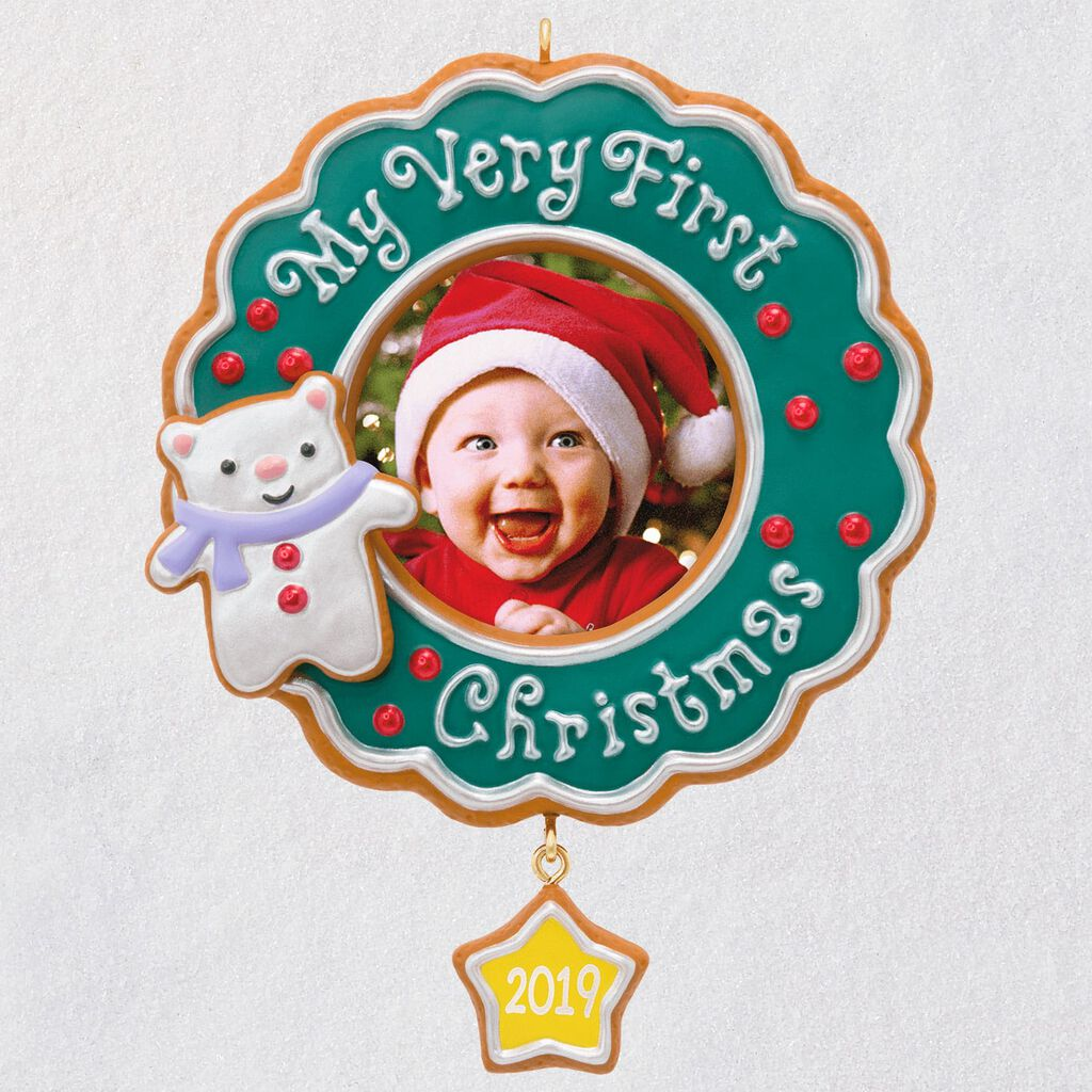 First Christmas.My Very First Christmas Baby 2019 Photo Frame Ornament