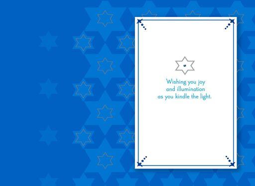 Hanukkah greeting cards shades of blue star of david hanukkah card m4hsunfo