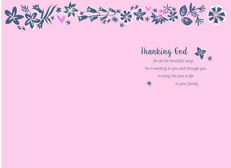 God chose you for our family religious mothers day card greeting card god chose you for our family religious mothers day m4hsunfo