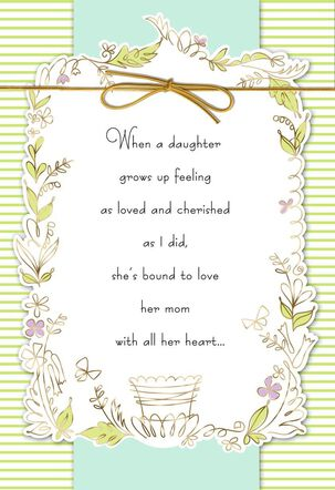 With All My Heart Mother's Day Card
