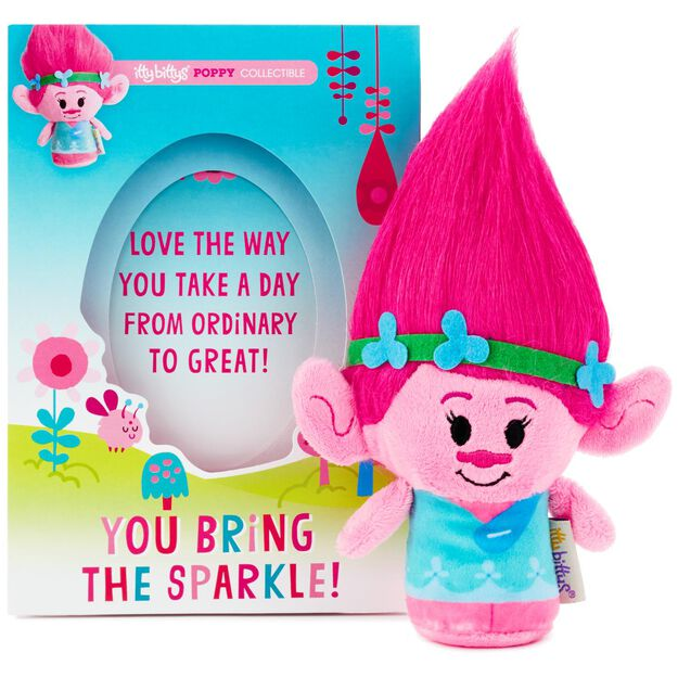 itty bittys® DreamWorks Trolls Poppy Just Because Card With Stuffed Animal