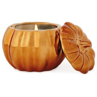Coppered Pumpkin-Shaped Filled Candle, 6.5 oz.,