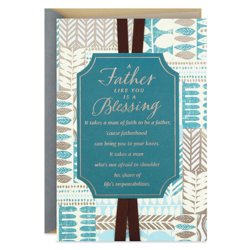 A Man Like You Is Blessing Fathers Day Card