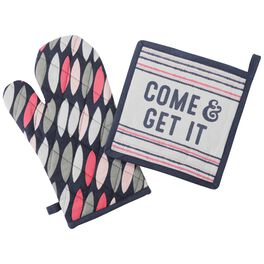 Come & Get it Oven Mitt and Pot Holder Set, , large