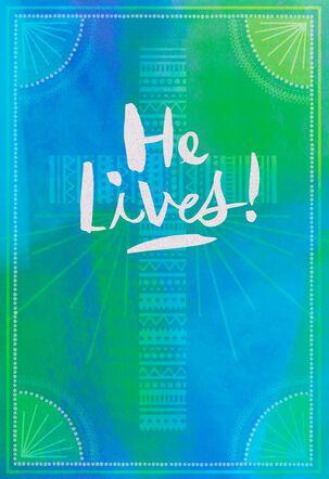 He Lives! Religious Cross Easter Card