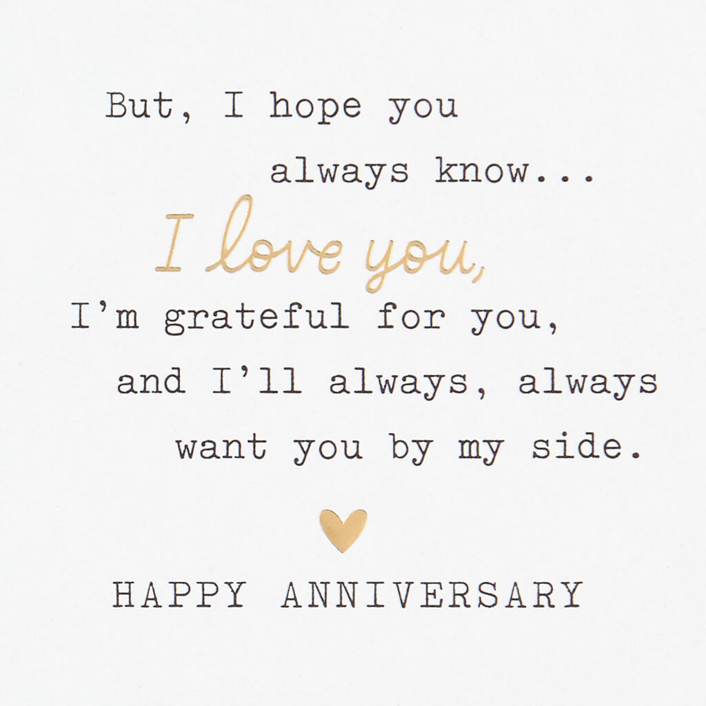 Typed Love Letter Anniversary Card for Husband
