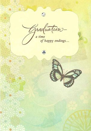 A Time of Happy Endings Graduation Card