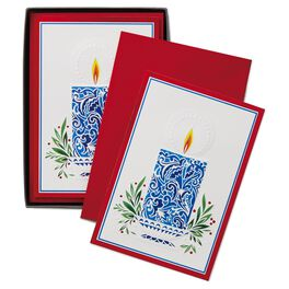A Christmas Wish Mosaic Candle Christmas Cards, Box of 16, , large
