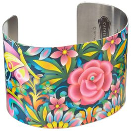 Catalina Estrada Blue Rose Cuff Bracelet, , large