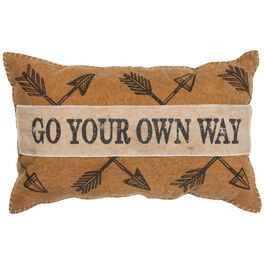Primitives by Kathy Go Your Own Way Pillow, , large