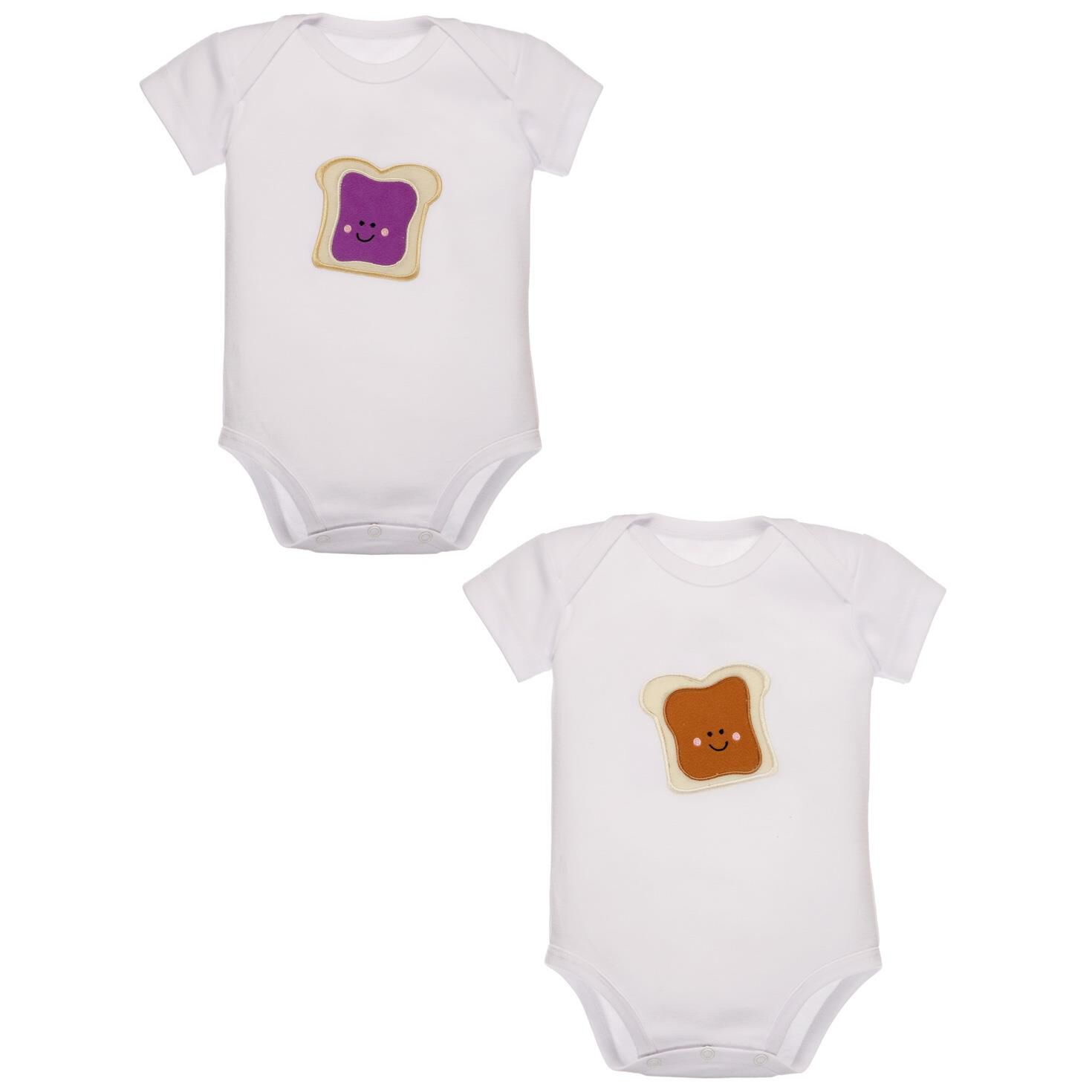 Peanut Butter and Jelly Set of 2 esies 3 6 Months Baby Clothes