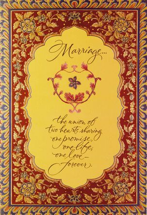 A Beautiful Forever Wedding Card