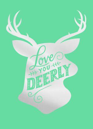 Love You Deerly Christmas Card