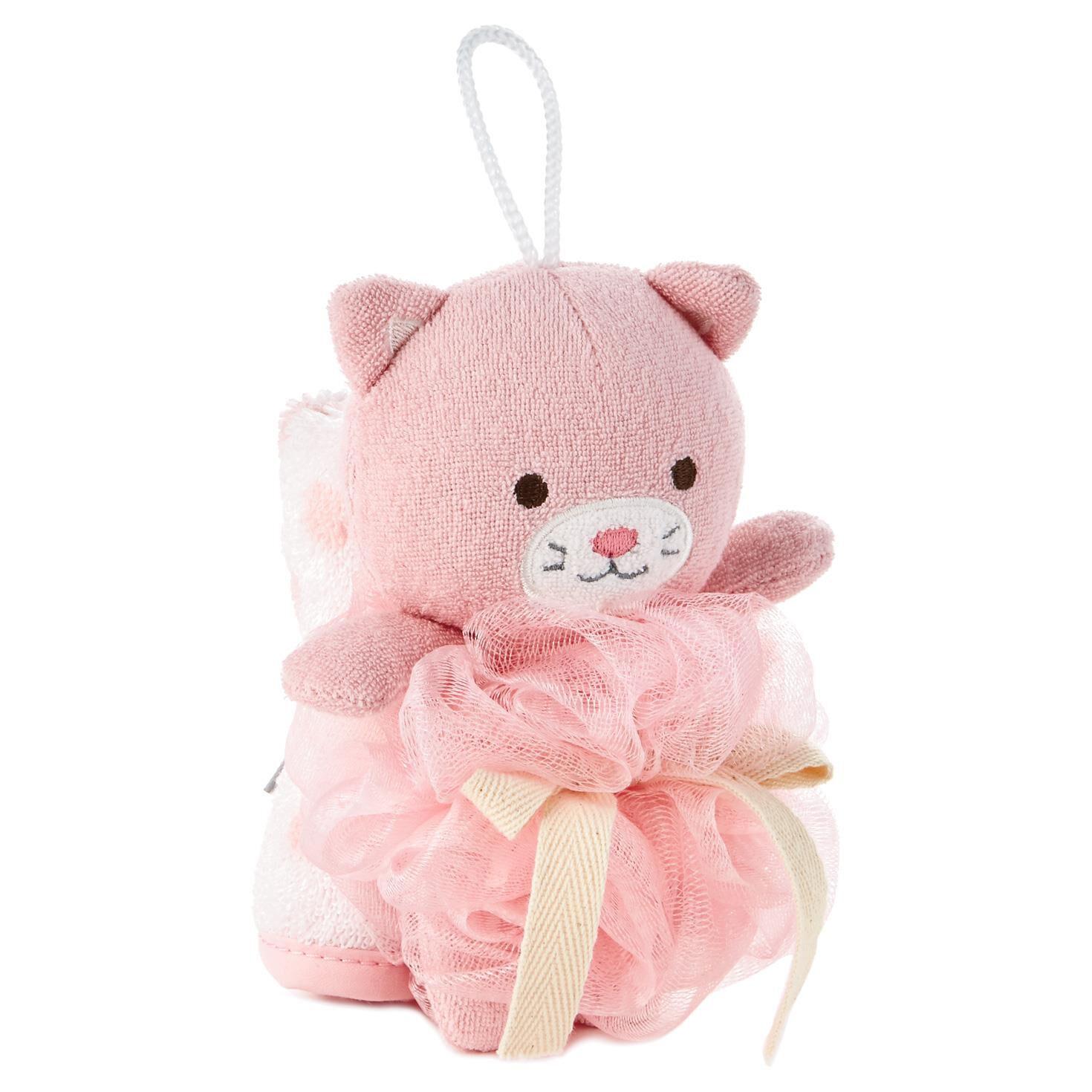 Kitty Loofah and Washcloth Baby Bath Set - Baby Essentials - Hallmark