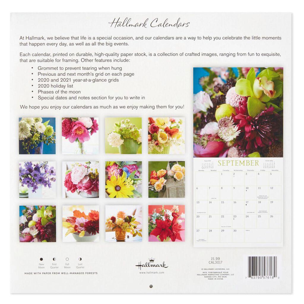 Flowers 2020 Wall Calendar, 12-Month