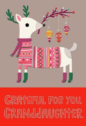 Feliz Navidad Granddaughter Christmas Card